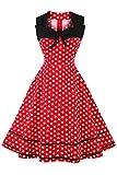 Axoe Damen 60er Jahre Polka Dot Retro Vintage...