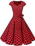 Dresstells Vintage 50er Swing Party kleider Cap...
