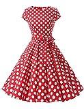 Dressystar Damen Vintage 50er Cap Sleeves Dot...